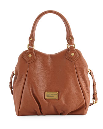 Classic Q Fran Satchel Bag, Smoked Almond