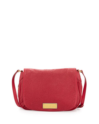 Washed Up Nash Flap Crossbody Bag, Raspberries