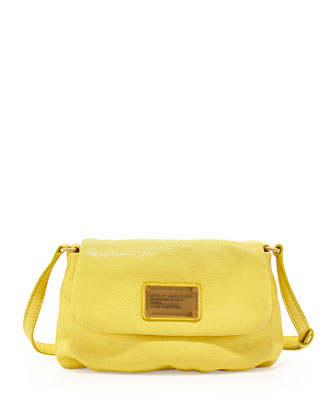 Classic Q Percy Flap Crossbody Bag, Banana Creme