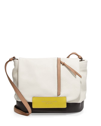 Round the Way Girl Messenger Bag, Swan White Multi