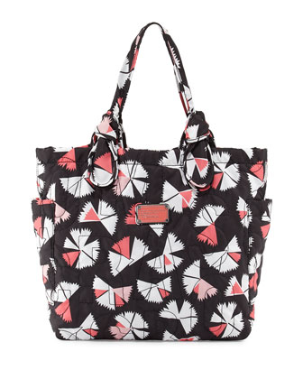 Pretty Nylon Pinwheel Medium Tate Tote Bag, Black Multi