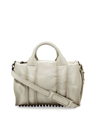 Rocco Inside-Out Satchel Bag, Chalk