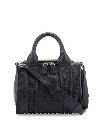 Inside-Out Rockie Small Crossbody Satchel, Ink