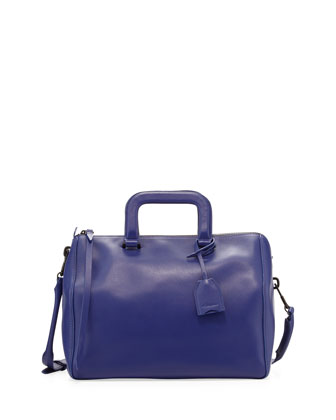 Wednesday Medium Boston Satchel Bag, Ultramarine