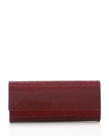 Ritz Fizz Crystal Clutch Bag, Silver Crimson