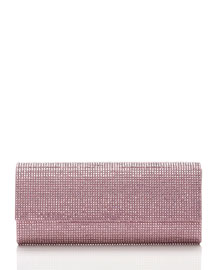 Ritz Fizz Crystal Clutch Bag, Silver Light Rose