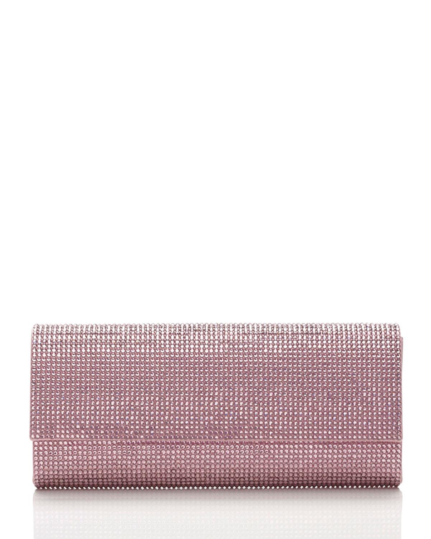 Judith Leiber Couture Ritz Fizz Crystal Clutch Bag, Silver Light Rose, Women's