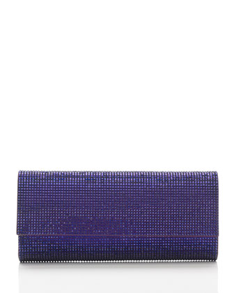 Ritz Fizz Crystal Clutch Bag, Silver Plum