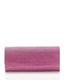 Ritz Fizz Crystal Clutch Bag, Silver Rose