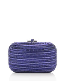 Crystal Slide-Lock Clutch Bag, Plum