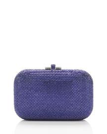 Crystal Slide-Lock Clutch Bag, Plum