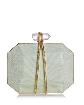 Iris Lizard Box Clutch Bag