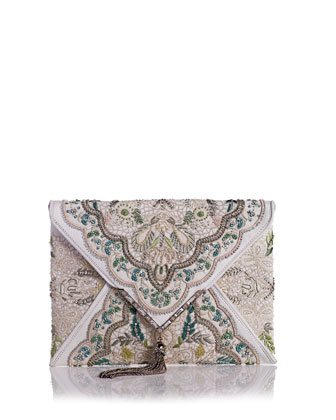 Elisa Embroidered Irish Lace Clutch Bag