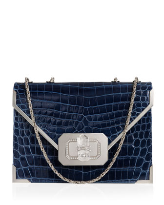 Valentina Crocodile Shoulder Bag