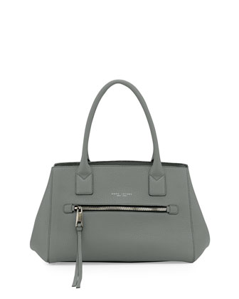 Not So Big Apple Tote Bag, Gray-Green