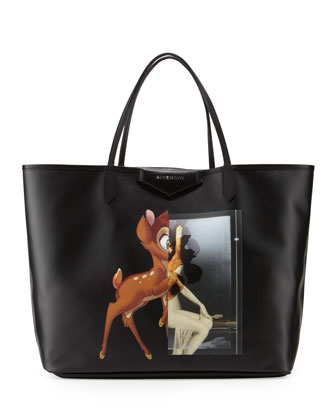Antigona Fawn-Print Large Shopper Bag