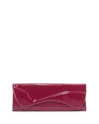 Pigalle Patent Clutch Bag, Magenta