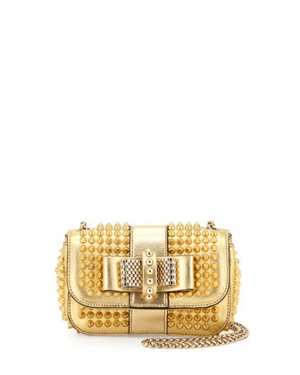 Sweet Charity Small Spiked Crossbody Bag, Golden