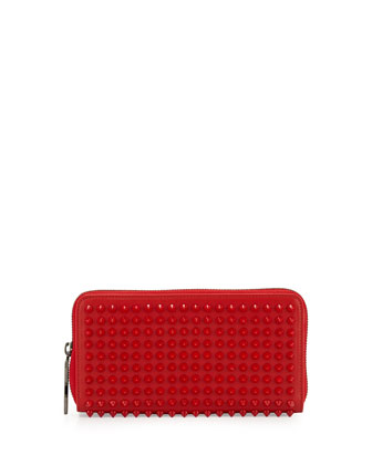 Panettone Spiked Zip Wallet, Red