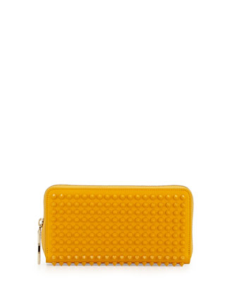 Panettone Spiked Zip Wallet, Yellow