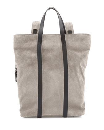 Tokyo Slouchy Suede Backpack, Gray