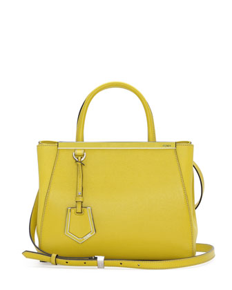 2Jours Mini Shopping Tote Bag, Yellow