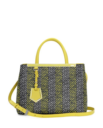 2Jours Printed Mini Tote Bag, Yellow