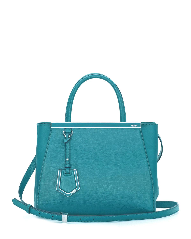 Fendi 2Jours Mini Shopping Tote Bag, Aqua