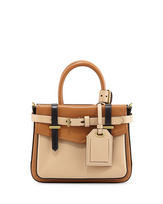 Boxer Micro Tote Bag, Tan Multi