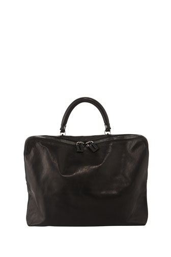 Martin Double Zip Tote Bag, Black