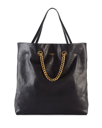 Carry Me Lambskin Medium Tote Bag, Black