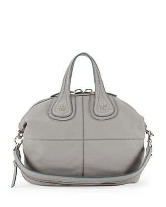Nightingale Sugar Satchel Bag, Gray