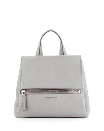 Pandora Pure Small Leather Satchel Bag, Pearl Gray
