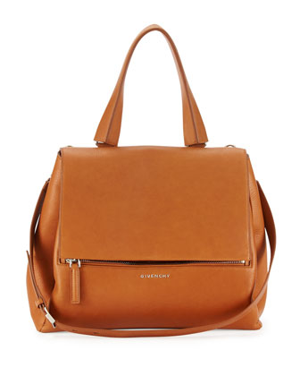 Pandora Pure Medium Leather Satchel Bag, Hazel