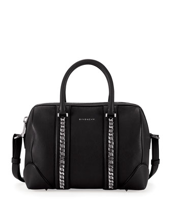 Lucrezia Sugar Chain Satchel Bag, Black