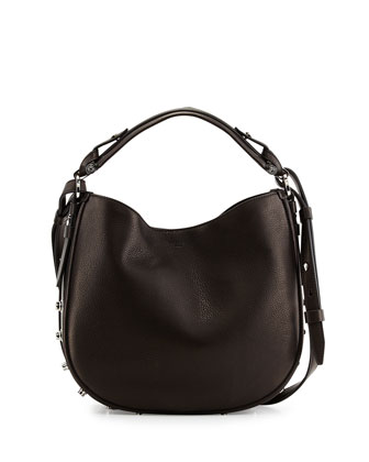 Obsedia Small Nail-Head Hobo Bag, Black