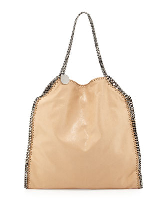 Falabella Large Faux-Leather Tote Bag, Tan