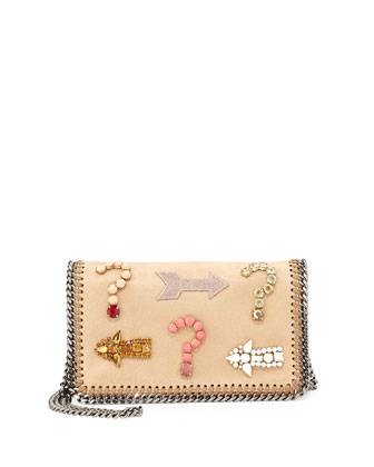 Falabella Embroidered Crystal Crossbody Bag