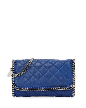 Falabella Quilted Shoulder Bag, Blue