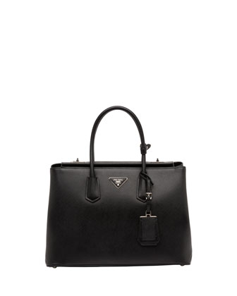 Saffiano Cuir Twin Bag, Black