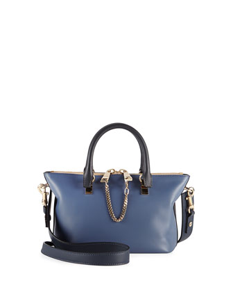 Baylee Mini Satchel Bag, Navy