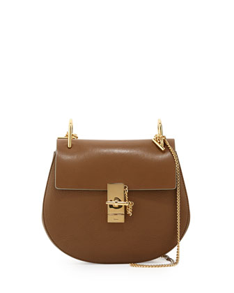 Drew Medium Chain Shoulder Bag, Khaki