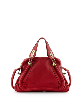 Paraty Medium Satchel Bag, Red