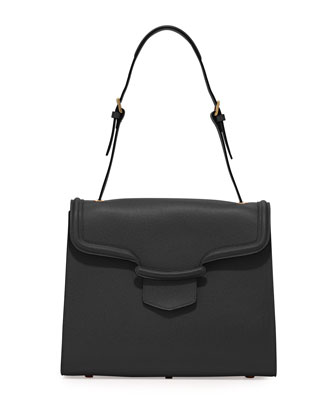 Heroine Flap Shoulder Bag, Black