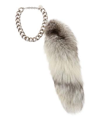 Fur Fox Tail Charm, Gray
