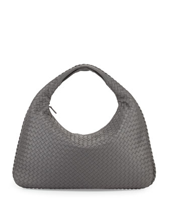 Veneta Large Hobo Bag, Gray