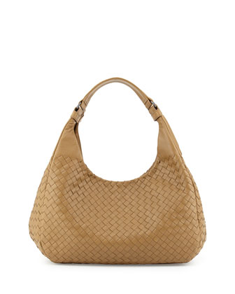 Intrecciato Medium Hobo Bag, Sand