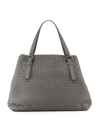 Large A-Shape Tote Bag, Gray