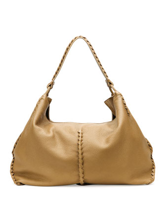Cervo Large Shoulder Bag, Sand