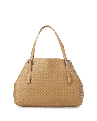 Veneta Medium A-Shaped Tote Bag, Sand